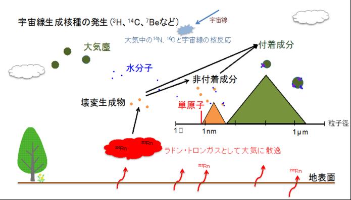 天然放射性物質とは?イメージ図